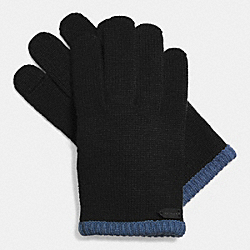 COLORBLOCK KNIT GLOVE - BLACK - COACH F85123