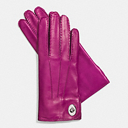 LEATHER TURNLOCK GLOVE - FUCHSIA - COACH F85124