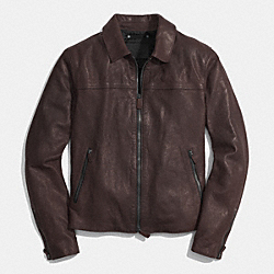 YORK LEATHER JACKET - MAHOGANY - COACH F85127