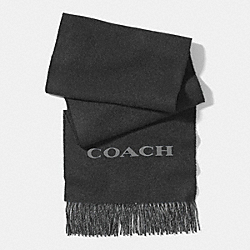 COACH BICOLOR CASHMERE BLEND WOVEN SCARF - CHARCOAL/GRAY - F85134