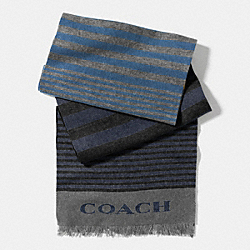 COACH VARIEGATED STRIPE WOVEN SCARF - EFI - F85135