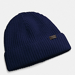 COACH RIB KNIT HAT - NAVY - F85140