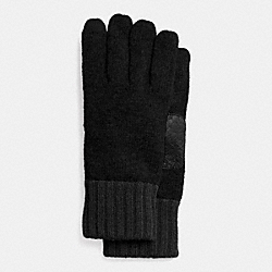 COACH MEN'S TECH KNIT GLOVE - BLACK/BLACK - F85146