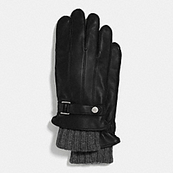 COACH 3 IN 1 LEATHER GLOVE - BLACK - F85147