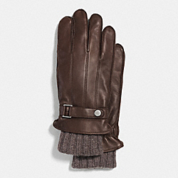 COACH 3 IN 1 LEATHER GLOVE - MAHOGANY - F85147