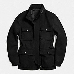 WOOL FIELD JACKET - BLACK - COACH F85232