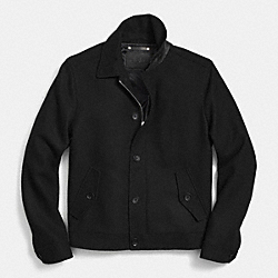 COACH WOOL EISENHOWER JACKET - BLACK - F85236