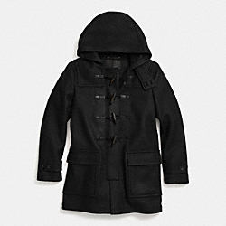 COACH CROSBY WOOL DUFFLE COAT - BLACK - F85238