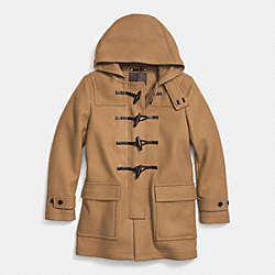 COACH CROSBY WOOL DUFFLE COAT - CAMEL - F85238