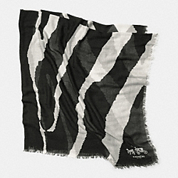 ZEBRA PRINT OVERSIZED SQUARE SCARF - MULTICOLOR - COACH F85260