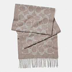 CASHMERE SIGNATURE C MUFFLER - BROWN - COACH F85265