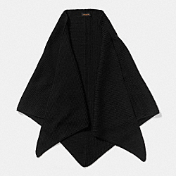 MERINO TRIANGLE SCARF - BLACK - COACH F85268