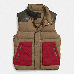 COACH SUMMIT DOWN VEST - KHAKI - F85271