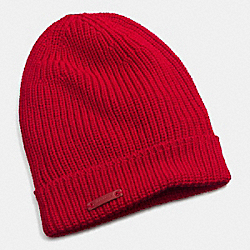 MERINO KNIT HAT - RED - COACH F85280