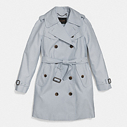 COACH MID-LENGTH TRENCH - CHAMBRAY - F85284