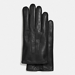 COACH BASIC NAPPA LEATHER GLOVE - BLACK - F85322