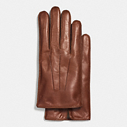 BASIC NAPPA LEATHER GLOVE - f85322 - FAWN