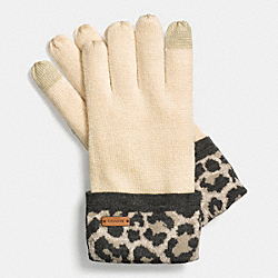 OCELOT KNIT TOUCH GLOVE - f85339 -  MULTICOLOR