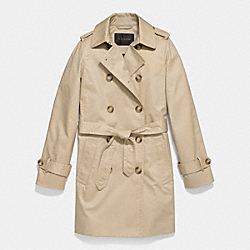 COACH ICON MID LENGTH TRENCH - KHAKI - F85626