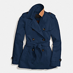 COACH ICON SHORT TRENCH - NAVY - F85627