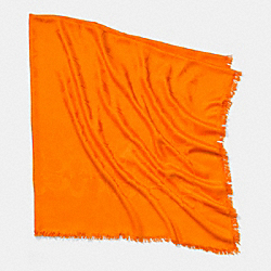 C.O.A.C.H. SIGNATURE C OVERSIZE SQUARE SCARF - NEON ORANGE - COACH F85651