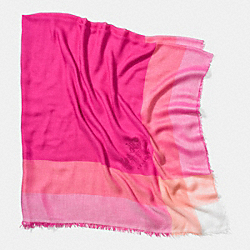 LIGHTWEIGHT WINDOWPANE CHALLIS SCARF - PINK RUBY - COACH F85653