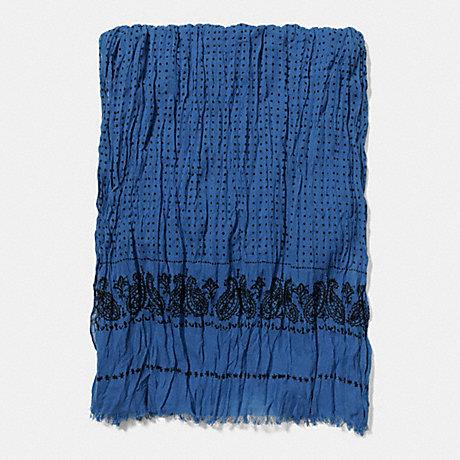 COACH BANDIT PRINT SCARF - BLUE BANDIT - f85679