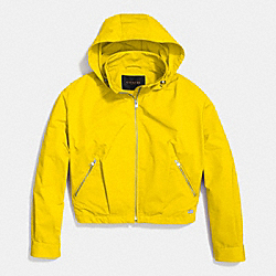 COACH ZIP HOODED WINDBREAKER - CADMIUM - F85731