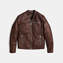 LEATHER RACER - MAHOGANY - COACH F85825