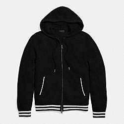 COACH BASEBALL ZIP HOODY - BLACK - F85835