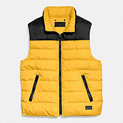 COACH DOWN VEST - GOLD - F85843