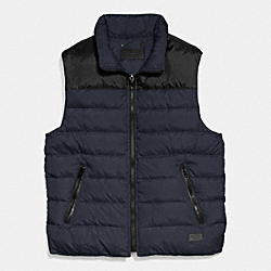 COACH DOWN VEST - NAVY - F85843