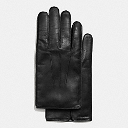 COACH LEATHER GLOVE - BLACK - F85850