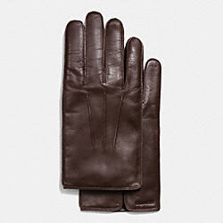 COACH LEATHER GLOVE - MAHOGANY - F85850