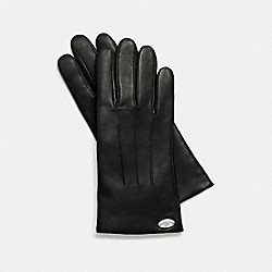 BASIC LEATHER GLOVE - BLACK - COACH F85876