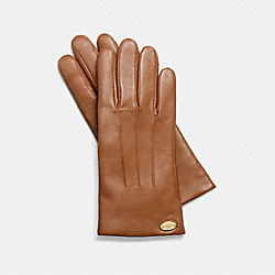 BASIC LEATHER GLOVE - SADDLE - COACH F85876