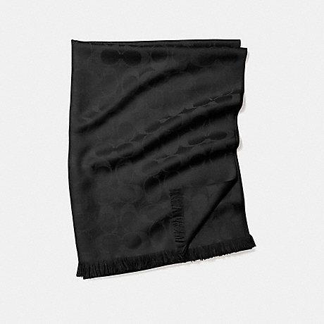 COACH SIGNATURE C WRAP - BLACK/BLACK - f86011