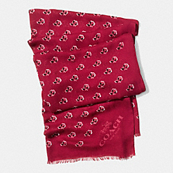 BRAMBLE ROSE SCARF - BERRY MULTICOLOR - COACH F86012