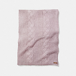 COACH LOOSE CABLE SCARF - BLUSH - F86016