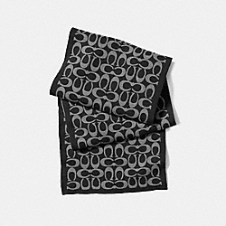LOGO KNIT SCARF - BLACK/GRAY - COACH F86019