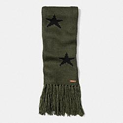 COACH STAR INTARSIA SCARF - EAX - F86021