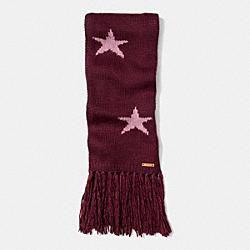 COACH STAR INTARSIA SCARF - EF3 - F86021