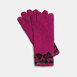 COACH OCELOT TOUCH GLOVE - CRANBERRY - F86022