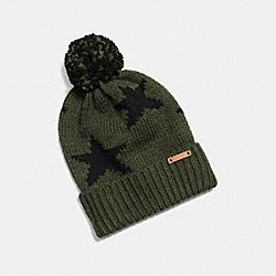 STAR INTARSIA HAT - EAX - COACH F86023