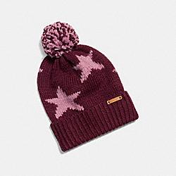 COACH STAR INTARSIA HAT - EF3 - F86023