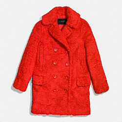 FUZZY COAT - EAN - COACH F86032