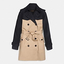 COACH COLORBLOCK TRENCH - KHAKI MULTI - F86035