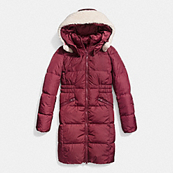 ICON LONG PUFFER - f86045 - BLACK CHERRY