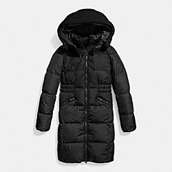 ICON LONG PUFFER - f86045 - BLACK