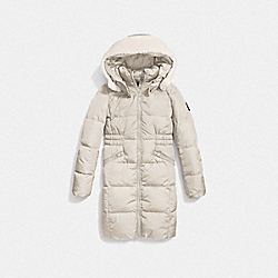 ICON LONG PUFFER - f86045 - PEARL